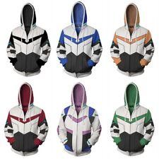 Voltron:Legendary Defender Lance Cosplay 3D Hooded Sweatshirt Zipper Coat Jacket