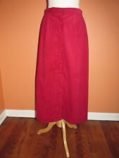 NWT Susan Bristol New Traditions Size 22W Cranberry Red Pleated Cordl Long Skirt