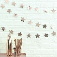 Rose Gold Star Garland/ Bunting~ Party Decoration, Wedding Xmas Birthday