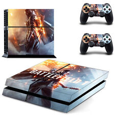 Sony PS4 Console and Controller Skins / Decal -- Battlefield I Design 4 (#1651)