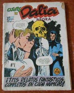 60s CUENTO DALIA NEGRA comic #1 HORROR anthology BLACK DAHLIA WEDDING KISS skull