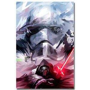"Star Wars 7 Force Awakens Movie Art Silk Poster 13x20 24x36"" Kylo Ren 137"