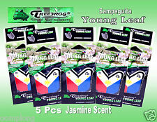5 Packs Treefrog SAMPAGUITA YOUNG LEAF  Car Air Freshener JASMINE Scent.JDM
