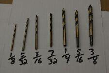 Drill Bits for Plastic acrylic sheet, plexiglass, lexan, polycarbonate,  7pc SET