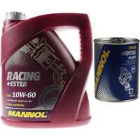 4L MANNOL Motoröl SAE 10W-60 RACING+ESTER Motorspülung Motor Flush