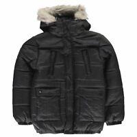 Kids Boys Firetrap Luxury Parka Junior Puffer Jacket Long Sleeve New