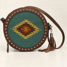 Blazin Roxx Aztec Canvas & Leather Studded Canteen Style Bag N7531802