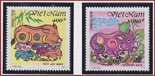 VIETNAM 1515/1516** ANNEE du COCHON, 1995 Vietnam 2589-2590 Year of the Boar MNH