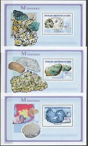 [205] Rep. Congo Bloc 269/71** Minéraux. Superbe. Cote : 52.5 €