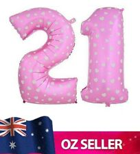 """Pink Foil Helium number 21 balloon -  40"""" inch 100cm Brithday Party AUS STOCK"""