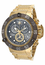 InvictA 20159 SUBAQUA  500 M Chronograph Yellow GOLD SWISS Ret.$2995 NEW Dragon