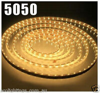 12V 5M 5050 SMD 300 Leds LED Strips Strip Light Waterproof Warm White 3000k