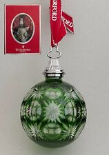 Waterford CHRYSTAL 2014 ANNUAL SMERALDO CON MONTANTE palla ornamento decorazione bauble