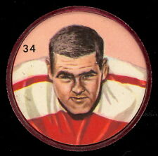 1963 CFL NALLEY'S FOOTBALL COIN #34 JIM CAIN EX-NM Ottawa Rough Riders Detroit