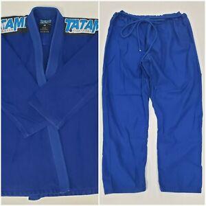 Tatami Fightwear Men's Royal Blue Gi Kimono Jiu Jitsu Size A5 Cotton Set