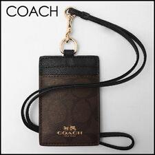 Coach ID Lanyard Badge Holder Case Card Neck Signature Bee PVC Canvas 63274 NWT