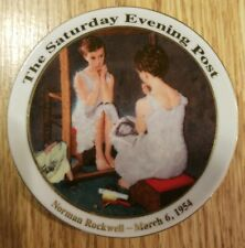 """Norman Rockwell Saturday Evening Post""""Girl in the Mirror"""" plate 3.5 March 6 1954"""