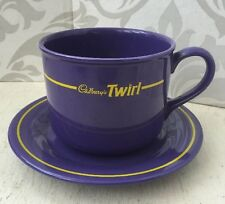 Vintage Unusual Large Hornsea Cadbury Twirl Advertising Cup & Saucer