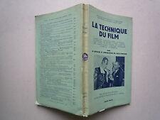 1939 LA TECHNIQUE DU FILM STEPHEN WATTS PREF H WALPOLE TRAD AURIOL CHEZ PAYOT