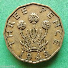 1949 George VI Threepence SNo24638