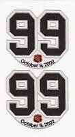 LA KINGS WAYNE GRETZKY RETIREMENT PATCH #99 LOS ANGELES KINGS NHL JERSEY 2 LOT