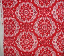 Lucien Flower Sugar #31272 Red Floral Quilting Fabric 1/2 metre