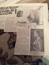 Q1-n Ephemera 1950s Article Actress Ann Powis Ivanhoe Tv Series