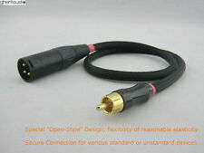 A05 (1m 3ft) --- RCA/Phono(male) to XLR(male) Choseal 4N-OFC HIFI Audio Cable