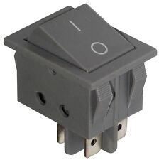 Interrupteur commutateur contacteur bouton à bascule gris DPST ON-OFF 15A/250V