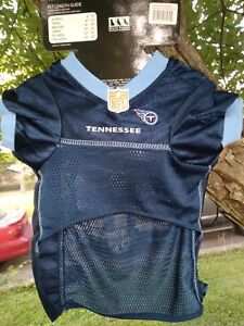 TENNESSEE TITANS NFL Licensed Product M DOG CAT PREMIUM JERSEY w/ NAME TAG New!