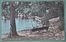 """coloured postcard, CLIFTONVILLE, Kent, """"Dane Park"""" -1920s"""