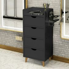 Salon Stations Storage Cabinet Beauty Salon Equipment With 2 Hair Dryer Holder