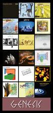 "GENESIS album discography magnet (7"" x 3.5"") Phil Collins Peter Gabriel"