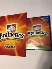 Brainetics MATH.. Memory..Amazing! Includes DVD's 3-5  & Playbook