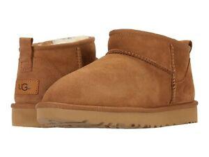 Women's Shoes UGG CLASSIC ULTRA MINI II Sheepskin Ankle Boots 1116109 CHESTNUT