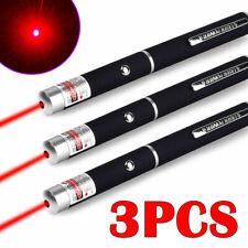 3x 990Mile 650nm Red Laser Pointer Pen Visible Beam Cat Toy Teaching Lazer Light