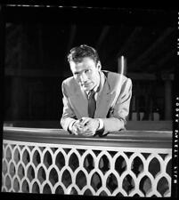 1940s Jack Palance WWII Command Performance Old Photo Negative John Florea 441B
