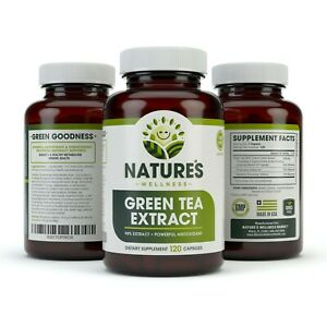 98%EGCG Green Tea Extract Capsules - Metabolism Booster for Weight Loss & Energy