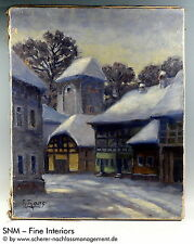 1900-1949 Originalgemälde (1900-1949) aus Leinwand mit Realismus auf Landschaft & Stadt
