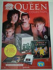 PROMO POSTER QUEEN collection EDICOLA cd Lp dvd Freddie Mercury Brian May