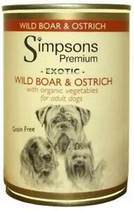 Simpsons Premium Canned Dog Food Boar & Ostrich 400g