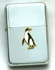 Penguin Petrol Cigarette Lighter Bird Watching Sealife Gift Boxed FREE ENGRAVING