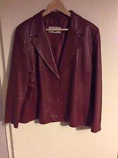Leather Blazer Plus Size Button Coats & Jackets for Women
