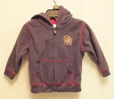 Just One You by Carter's  boys 6 month fleece zip up jacket - Gray w/ red trim