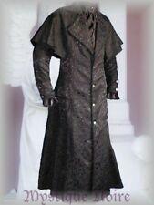 Kutschermantel Nathaniel Viktorianisch Jaquard schwarz Gothic Steampunk Hochzeit