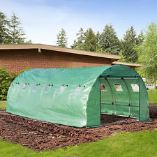Outsunny Walk-in Polytunnel 6M X 3M 6 Section Galvanized Outdoor Growing Plant