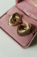 GORGEOUS! 14K Gold Spiral Interlocking Ring Tricolor earrings Weight 3.2 g