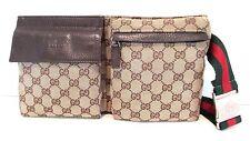 Authentic Vintage GUCCI Web Waist Belt Bag Fanny Pack Purse Handbag UNISEX