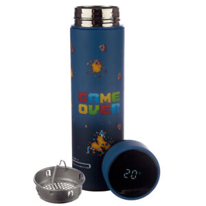 Game Over Stainless Steel Digital Thermometer Insulated hot cold Drinks Bottle