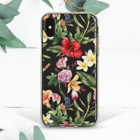 Hawaiian Nature Flower Floral Case For iPhone 6s 7 8 Plus X SE 11 12 Pro Max XR